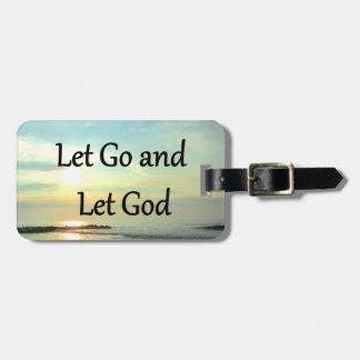 SERENE LET GO AND LET GOD OCEAN PHOTO BAG TAG