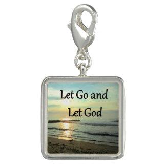 SERENE LET GO AND LET GOD OCEAN PHOTO CHARM