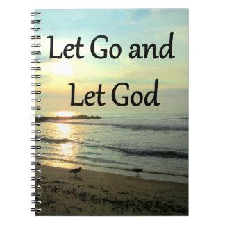 SERENE LET GO AND LET GOD OCEAN PHOTO SPIRAL NOTE BOOK