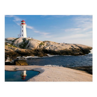 Serene Louisbourg Lighthouse Nova Scotia Postcard