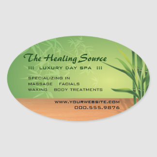 Serene Massage and Spa Oval Sticker