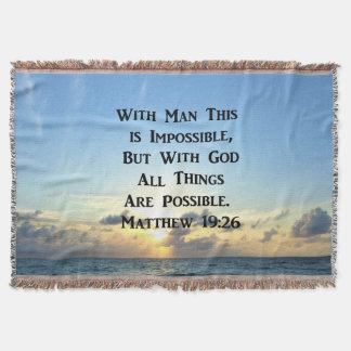SERENE MATTHEW 19:26 PHOTO DESIGN THROW BLANKET