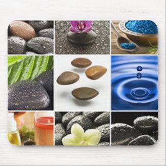 Serene Meditation Collage Mouse Pad