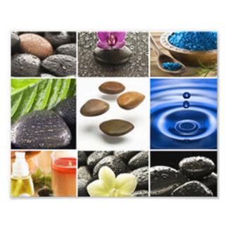 Serene Meditation Collage Photo Print
