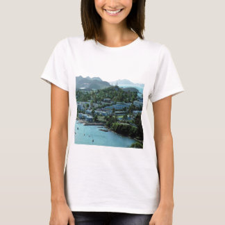 Serene ocean-enclave, on a t-shirt