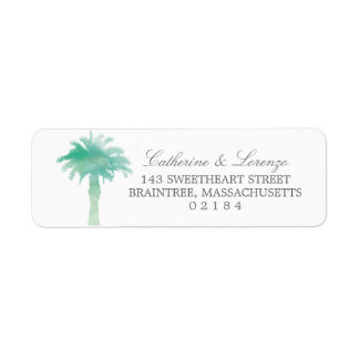 Serene Palm Tree Watercolor | Return Address Return Address Label