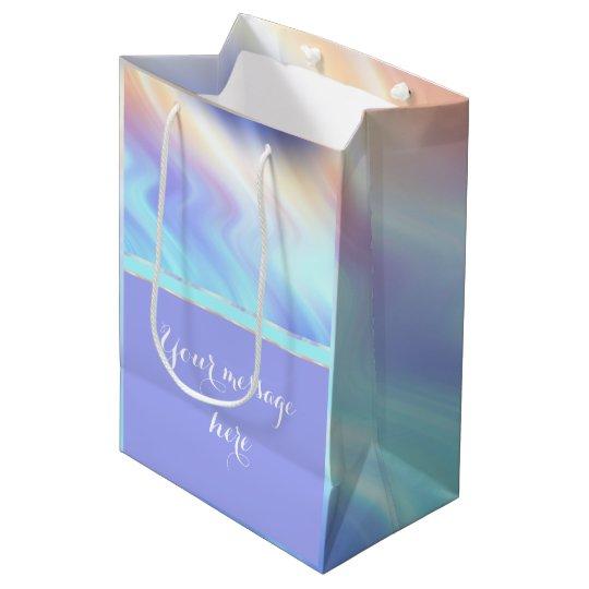 Serene Pastel Swirls and Lavender Medium Gift Bag