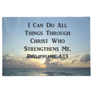 SERENE PHILIPPIANS 4:13 PHOTO DESIGN DOORMAT