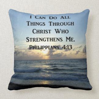 SERENE PHILIPPIANS 4:13 PHOTO DESIGN THROW PILLOW