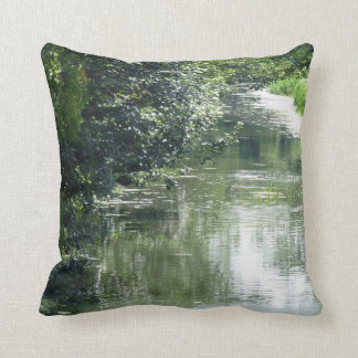 Serene River Flowing Throw Pillow
