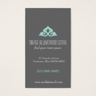 Serene Salon Aqua Appointment Business Card