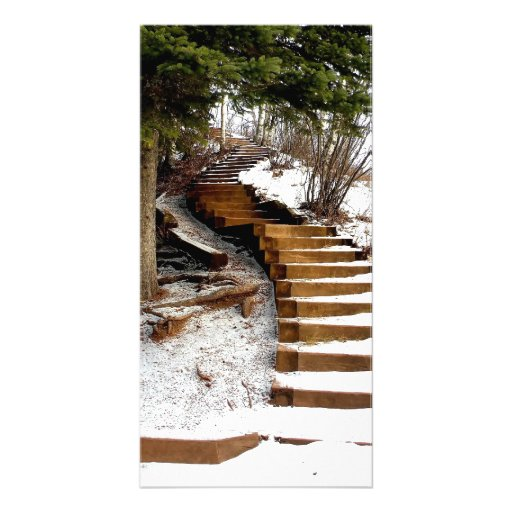 Serene Stairway Personalized Photo Card