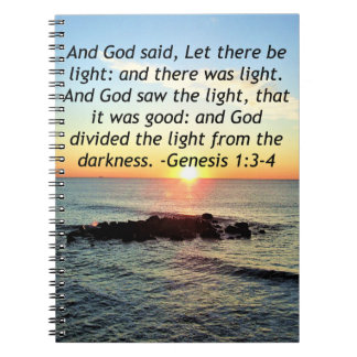 Serene Sunrise Genesis 1:3 Bible Design Notebook