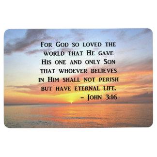 SERENE SUNRISE JOHN 3:16 PHOTO DESIGN FLOOR MAT