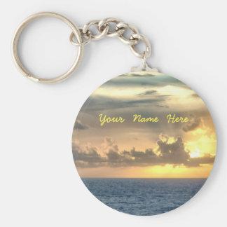 Serene Sunrise Personalized Basic Round Button Keychain