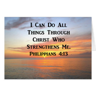 SERENE SUNRISE PHILIPPIANS 4:13 PHOTO SCRIPTURE CARD