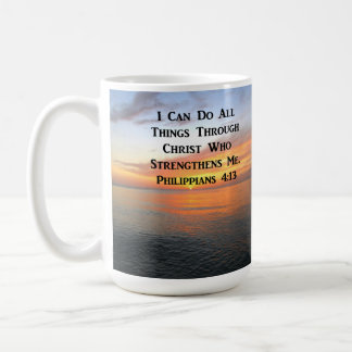 SERENE SUNRISE PHILIPPIANS 4:13 PHOTO SCRIPTURE COFFEE MUG