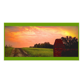 Serene Sunset in Georgia (# 2 in Series) Customized Photo Card