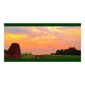Serene Sunset in Georgia (#3 in Series) Customized Photo Card