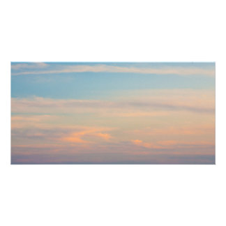 Serene sunset personalized photo card