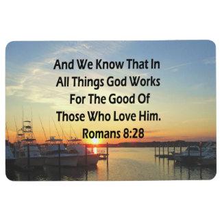 SERENE SUNSET ROMANS 8:28 BIBLE VERSE FLOOR MAT