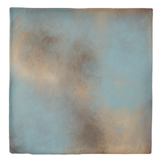Serene Teal-Blue, Gold and Brown | Duvet Cover