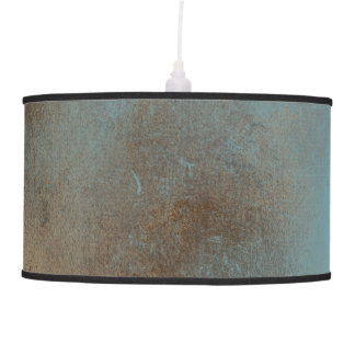 Serene Teal-Blue, Gold and Brown | Lamp Shade