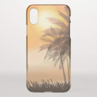 Serene Tropical Sunset & Palm Trees iPhone X Case