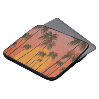 Serene Tropical Sunset & Palm Trees Laptop Sleeve