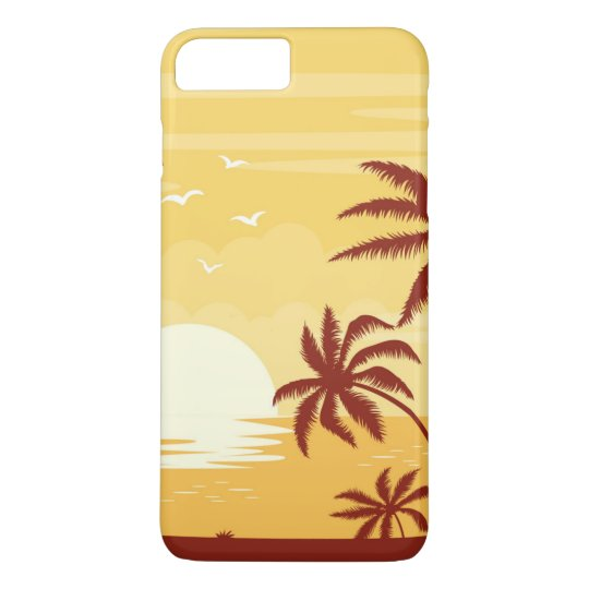 Serene Tropical Sunset & Palm Trees | Phone Case