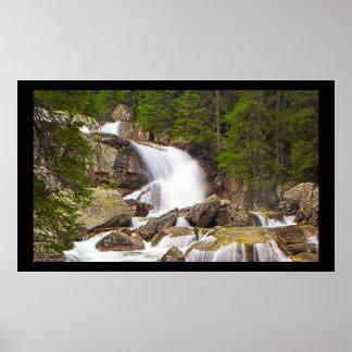 Serene Waterfall Poster - High Tatras Slovakia