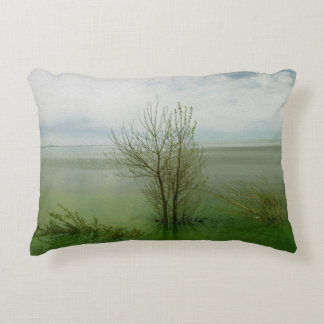 Serene Waterscape Landscape Decorative Pillow