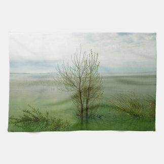 Serene Waterscape Landscape Hand Towels