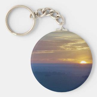 Serenegeti Sunrise Basic Round Button Keychain