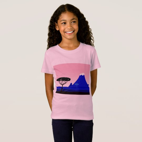 Serengethi Original drawing : Hills and Silhouette T-Shirt