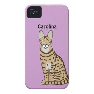 Serengeti Cat Breed Personalized Blackberry Case
