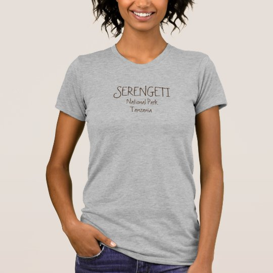SERENGETI, NATIONAL PARK, Heather Grey T-Shirt