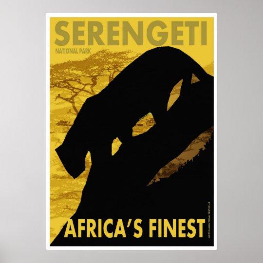 Serengeti poster/print poster