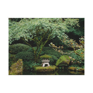 Serenity at a Japanese Garden Canvas Print