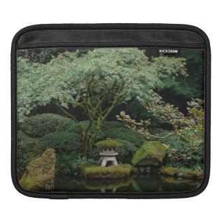 Serenity at a Japanese Garden iPad Sleeve