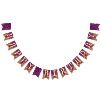 Serenity Birthday Swallowtail Party Bunting Banner