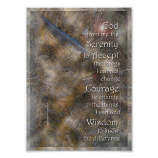 Serenity Blue Feather Poster