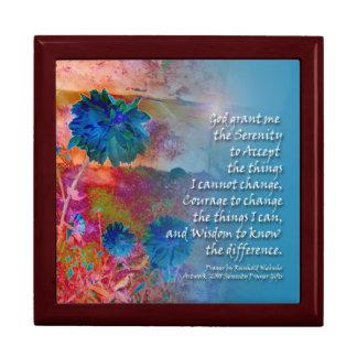 Serenity Blue Flowers Gift Box