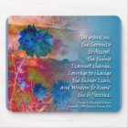 Serenity Blue Flowers Mouse Pad
