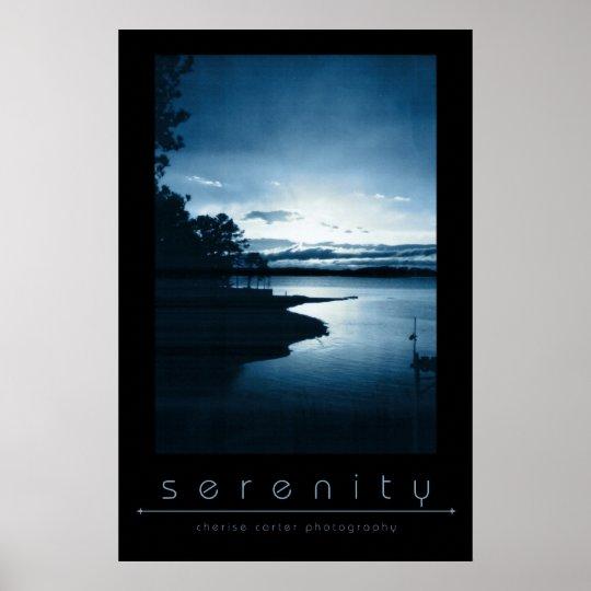 Serenity Blue Poster