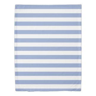 Serenity Blue & White Striped Duvet Cover