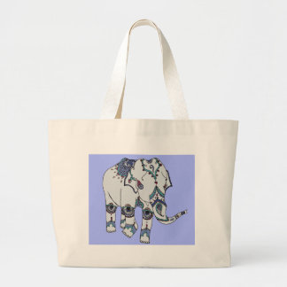Serenity Boho Elephant Large Tote Bag