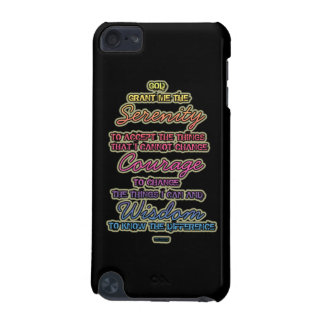 Serenity Courage Wisdom Colorful Text iPod Touch 5G Cases