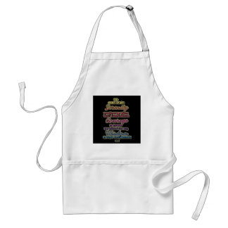 Serenity Courage Wisdom Colorful Text Standard Apron