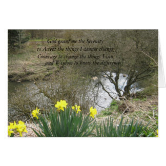 serenity daffodils card